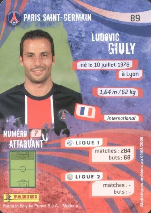 N° 089 - Ludovic GIULY (Verso)