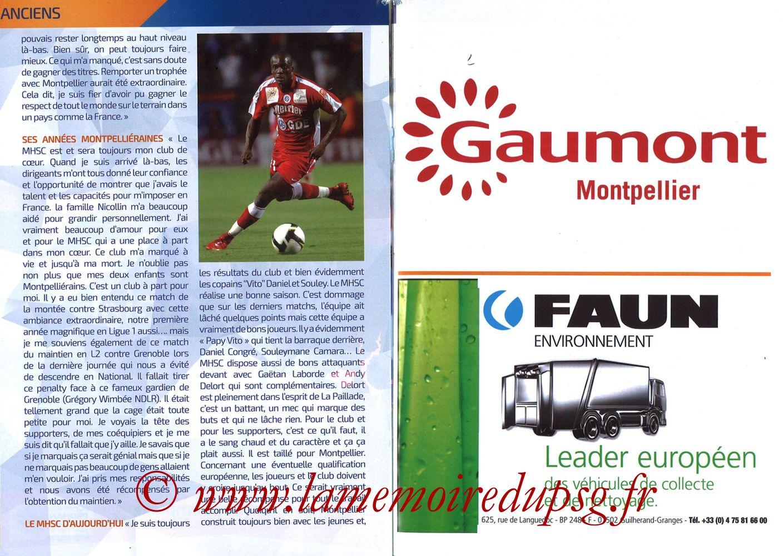 2019-04-30  Montpellier-PSG (34ème L1, L'Echo de la Mosson N°17) - Pages 22 et 23