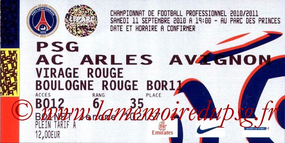 2010-09-11  PSG-Arles Avignon (5ème L1)