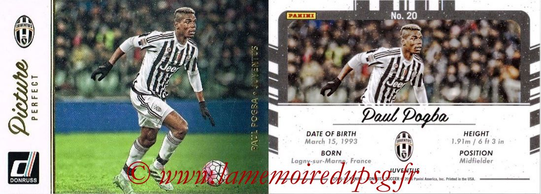 2016 - Panini Donruss Cards - N° PP20 - Paul POGBA (Juventus FC) (Picture Perfect)