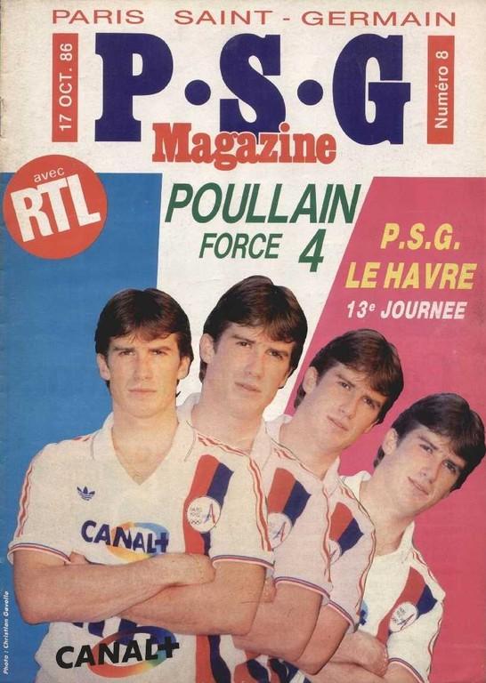 1986-10-17  PSG-Le Havre (13ème D1, PSG Magazine N°8)