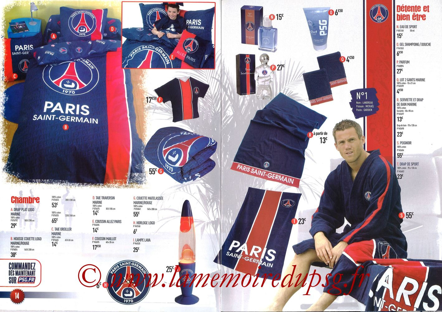 Catalogue PSG - 2007-08 - Pages 14 et 15