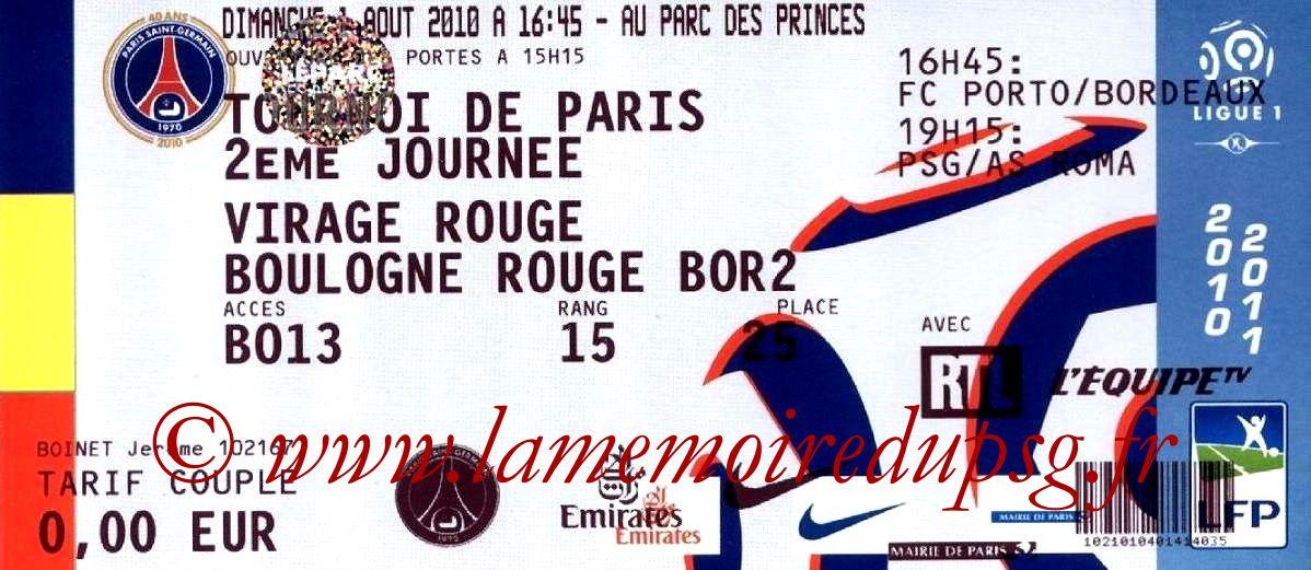 2010-08-01  PSG-As Roma (2ème journée Tournoi de Paris)