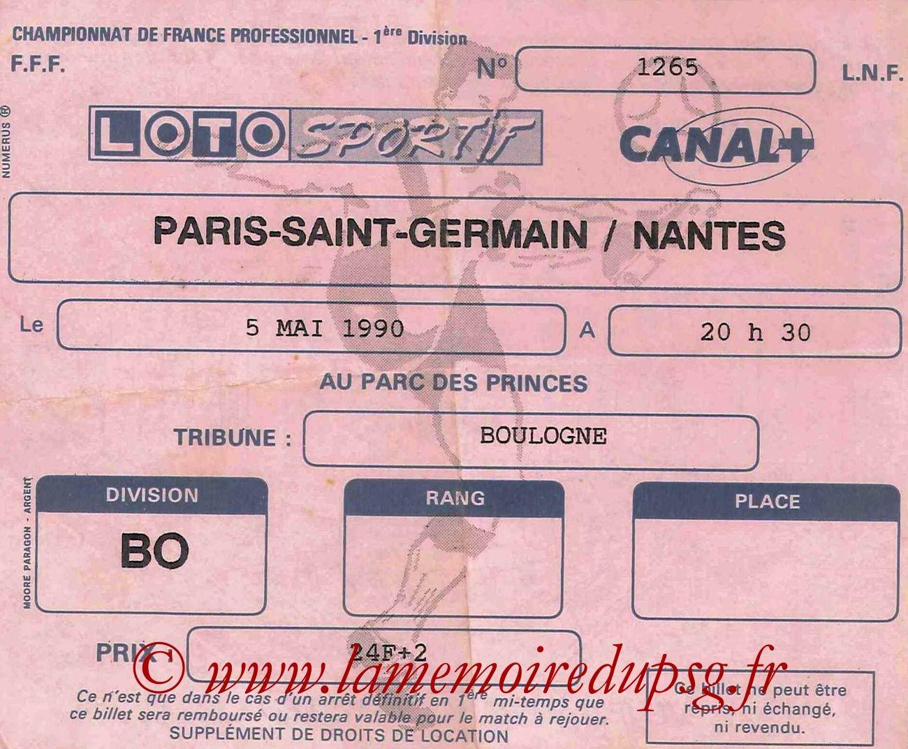 1990-05-05  PSG-Nantes (36ème D1)