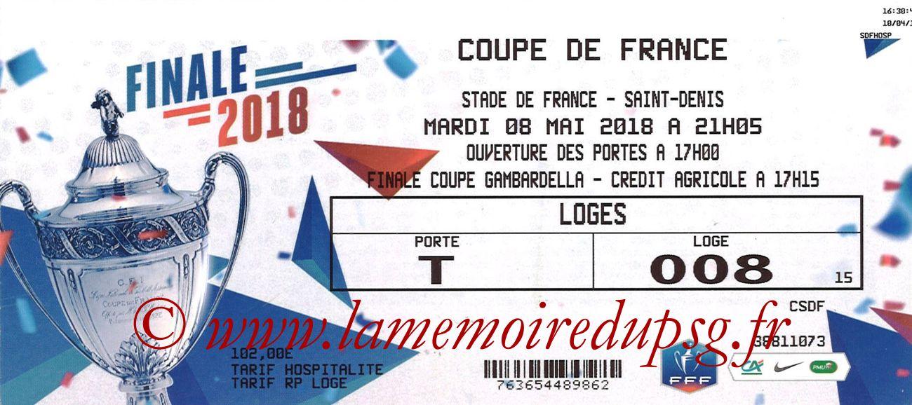 2018-05-08  Les Herbiers-PSG (Finale CF à Saint-Denis)