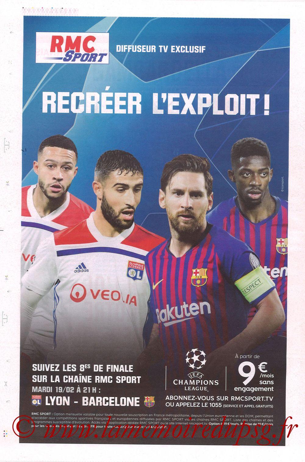 2019-02-03  Lyon-PSG (23ème L1, La Tribune OL N°270) - Page 20
