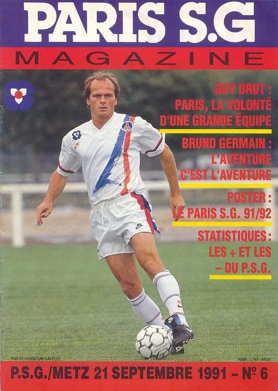 1991-09-21  PSG-Metz (11ème D1, Paris SG Magazine N°6)
