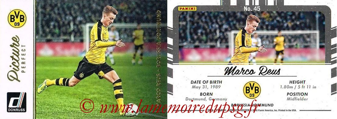 2016 - Panini Donruss Cards - N° PP45 - Marco REUS (Borussia Dortmund) (Picture Perfect)