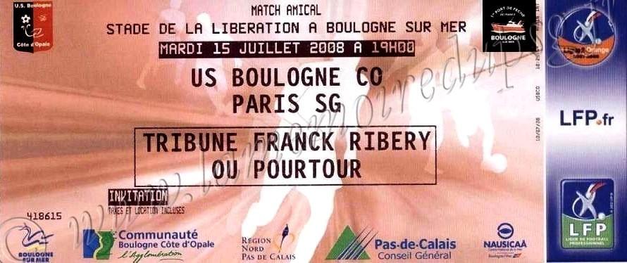 2008-07-15  Boulogne sur Mer-PSG (Amical à Boulogne)