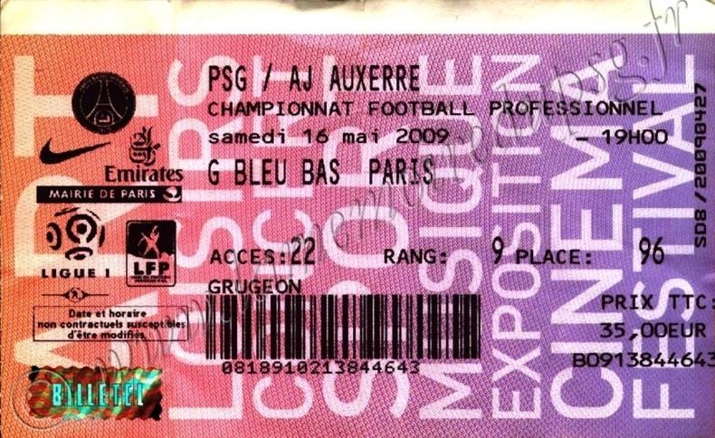 2009-05-16  PSG-Auxerre (36ème L1, Billetel)
