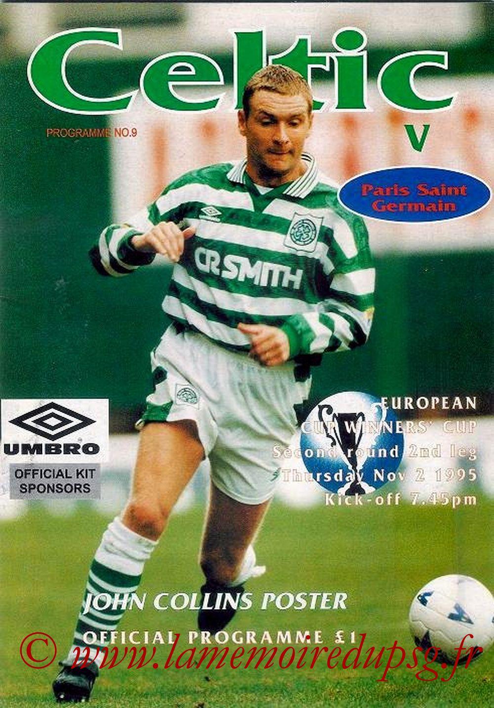 1995-11-02  Celtic-PSG (8ème Finale Retour C2, Officiel)