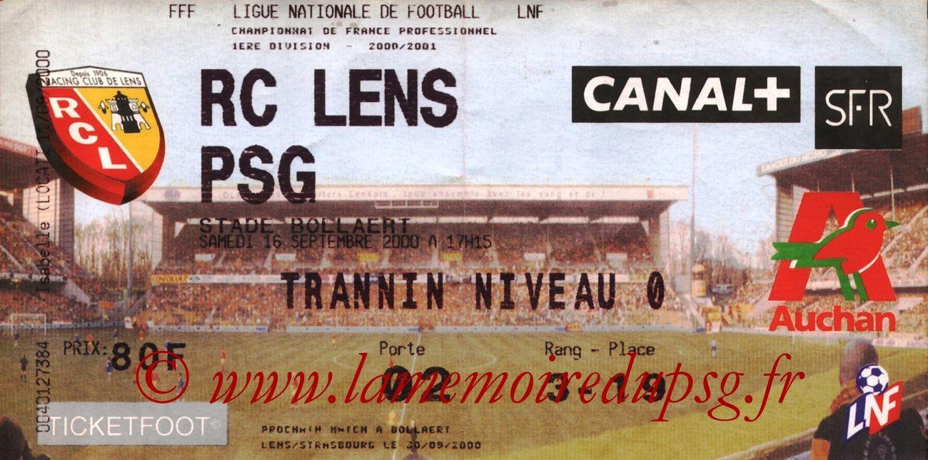 2000-09-16  Lens-PSG (8ème D1)
