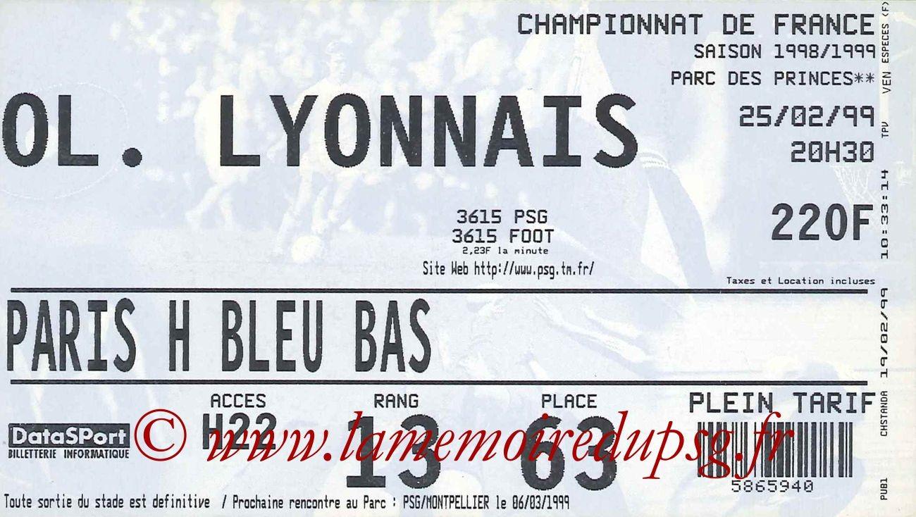 1999-02-25  PSG-Lyon (25ème D1)bis