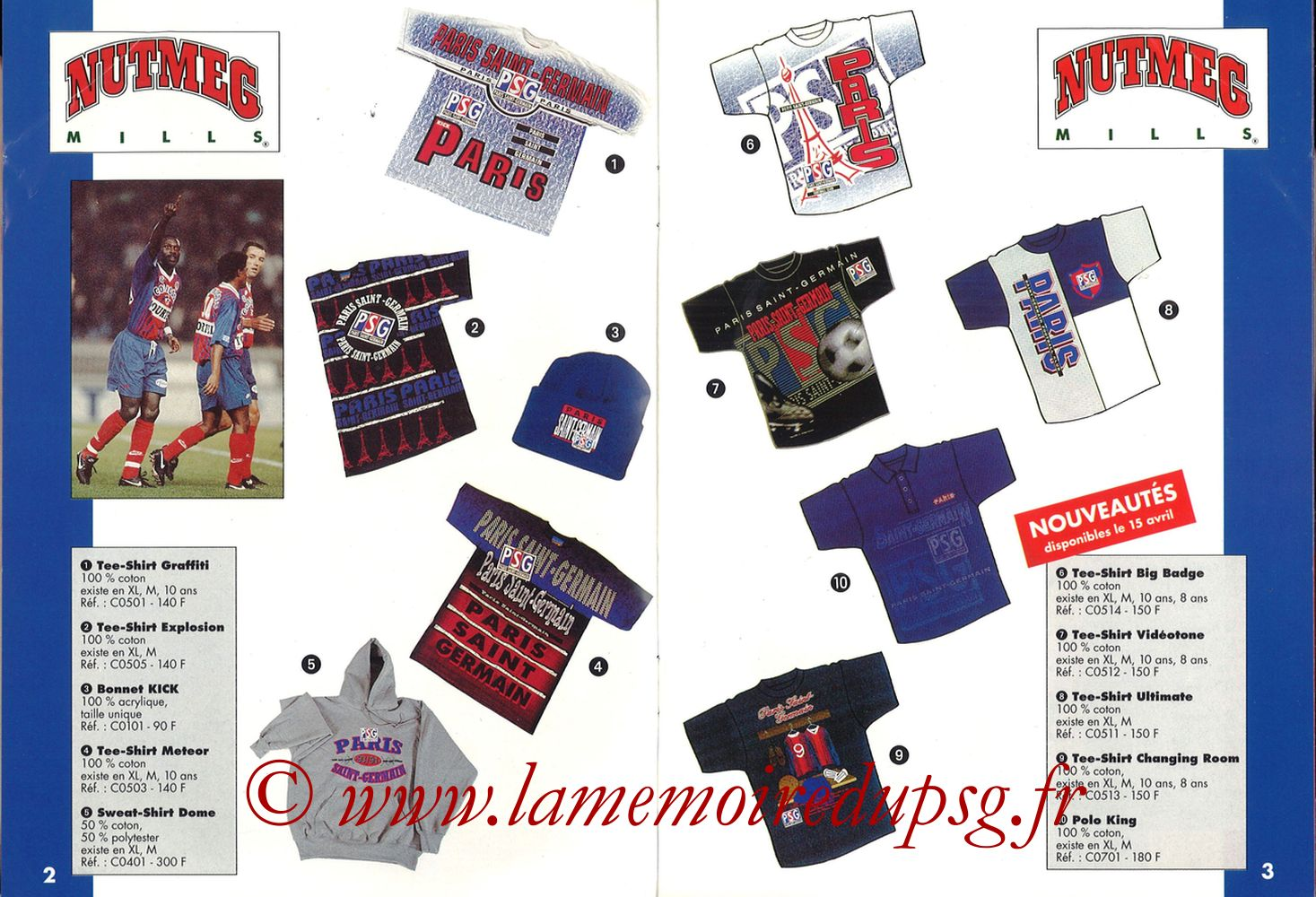 Catalogue PSG - 1993-94 - Pages 10 et 11