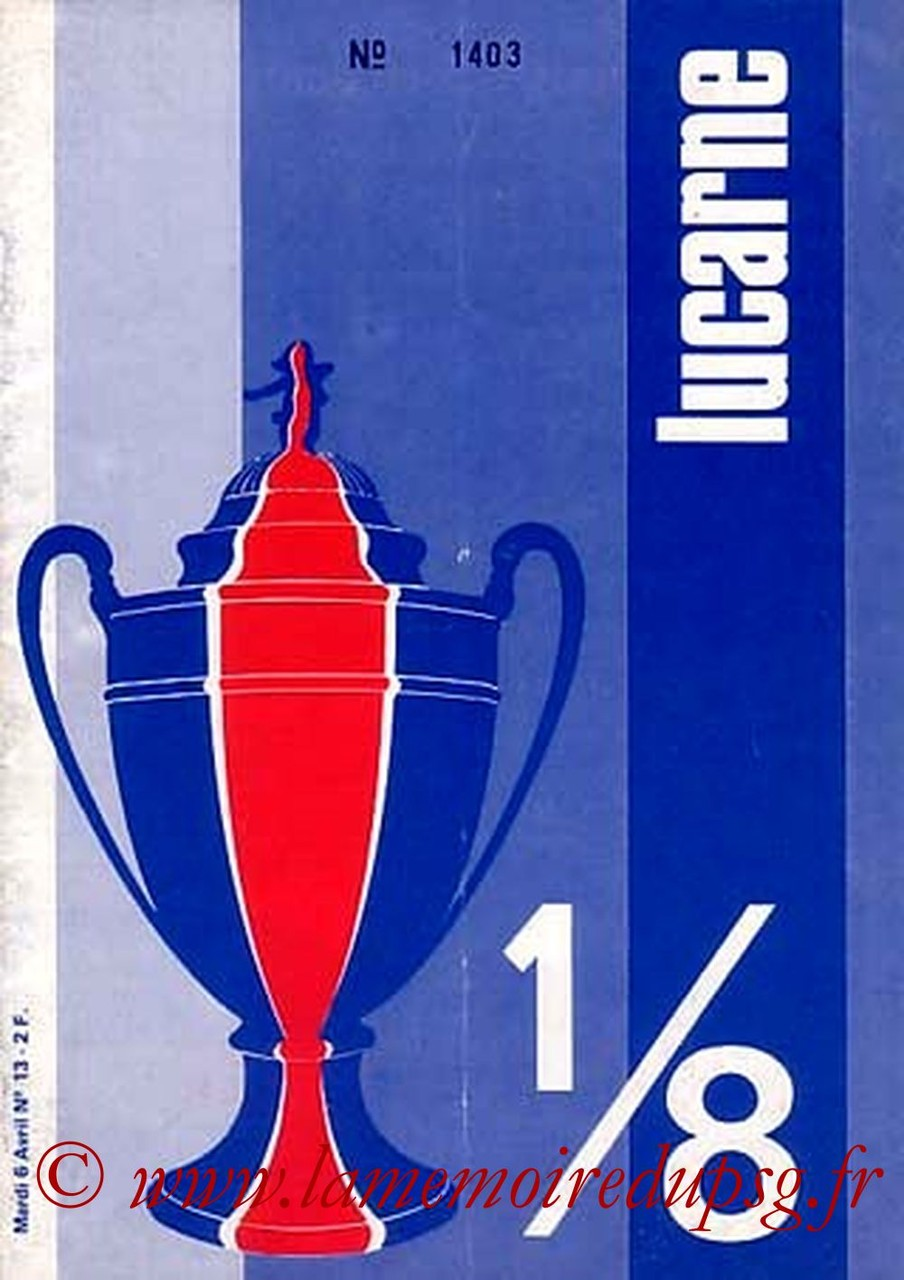 1976-04-06  PSG-Sete  (8ème Finale Aller CF, Lucarne N°13)