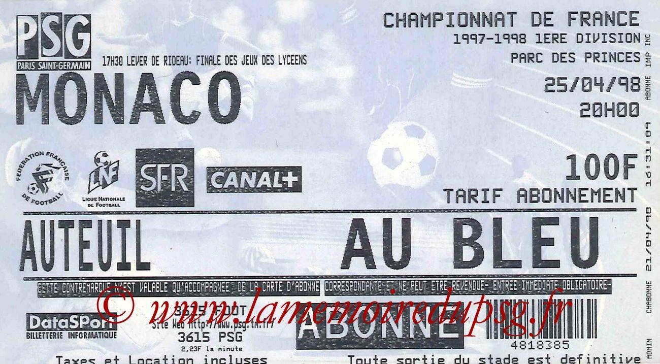 1998-04-25  PSG-Monaco (33ème D1)