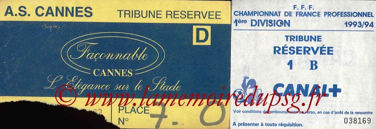 1993-10-23  Cannes-PSG (14ème D1, Sans Nom)