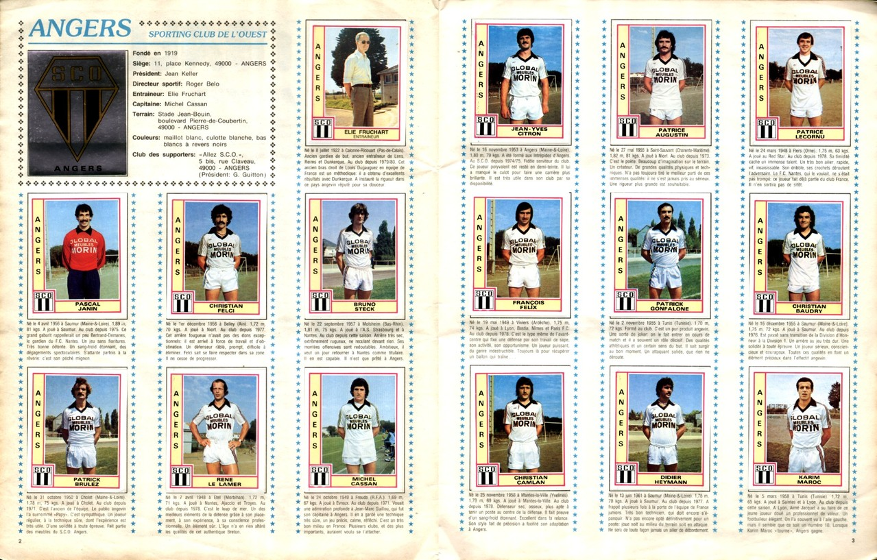 1979-80 - Panini 1980 - Pages 02 et 03 - SCO Angers