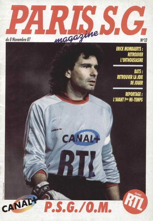 1987-11-08  PSG-Marseille (18ème D1, Paris SG Magazine N°10)
