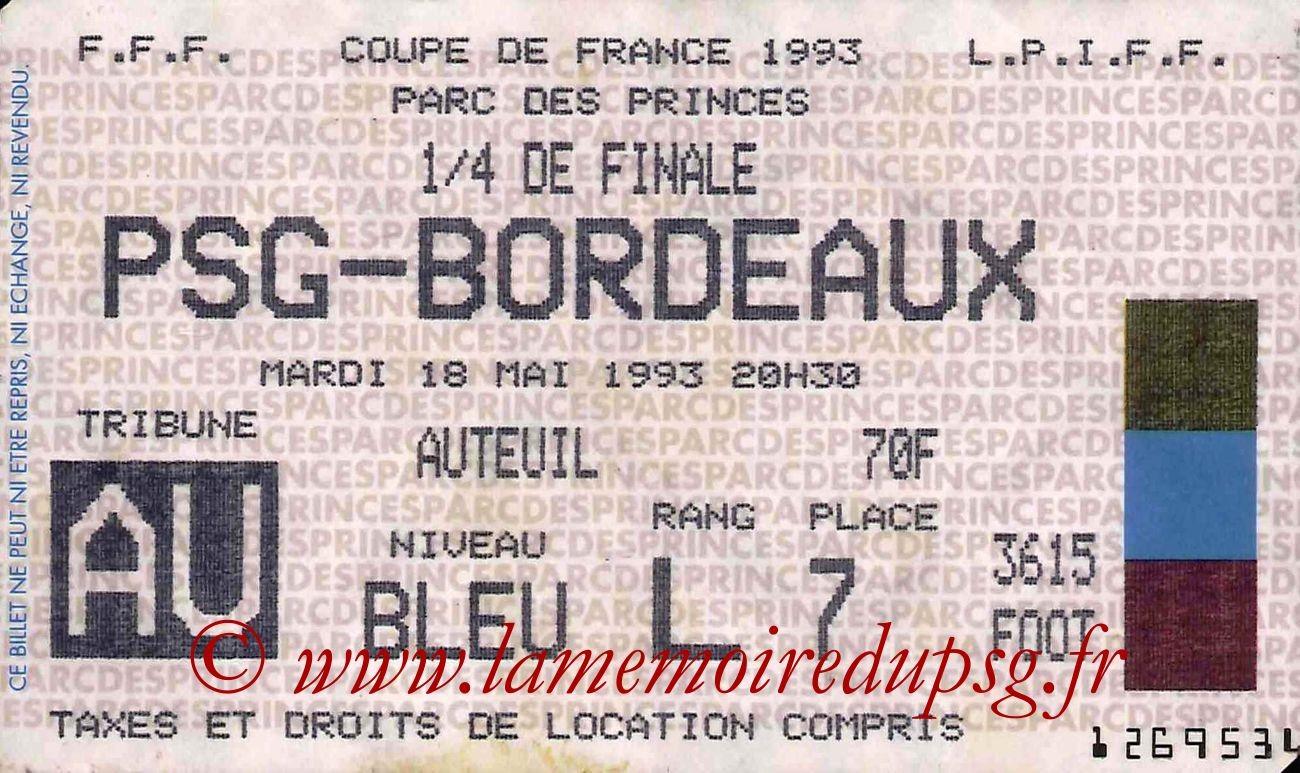 1993-05-18  PSG-Bordeaux (Quart Finale CF)