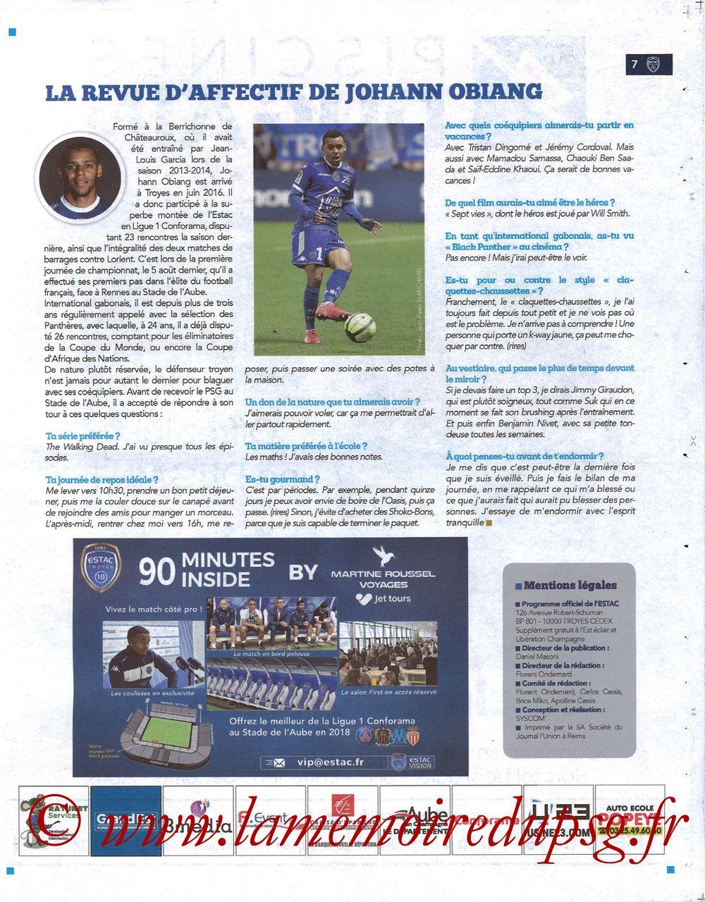 2018-03-03  Troyes-PSG (28ème L1, Bleu et Blanc N°15) - Page 07