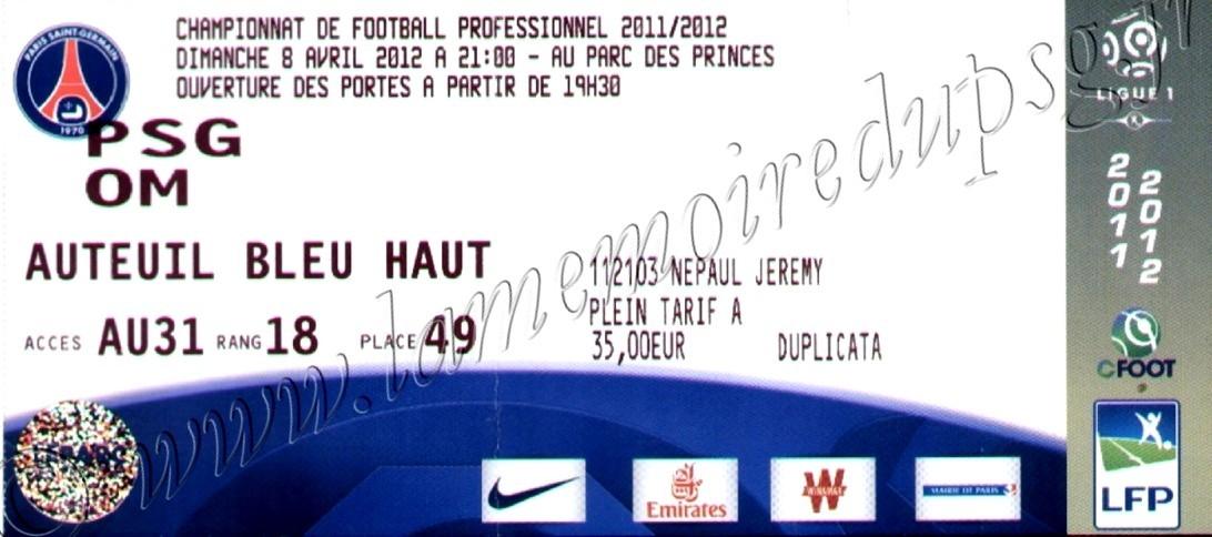 2012-04-08  PSG-Marseille (31ème L1)