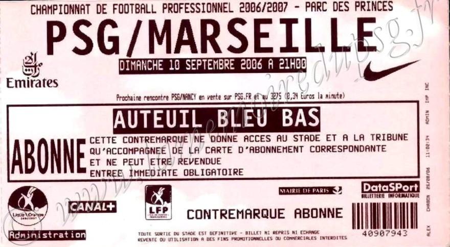 2006-09-10  PSG-Marseille (5ème L1)