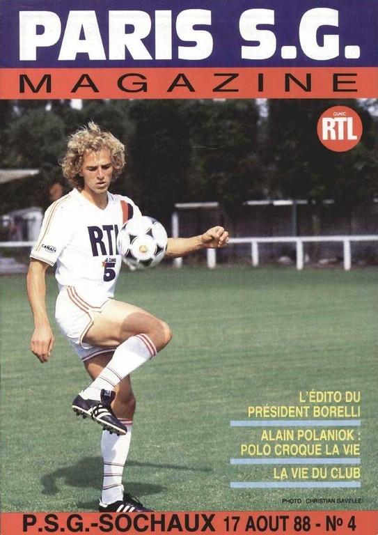 1988-08-17  PSG-Sochaux (7ème D1, Paris SG Magazine N°4)