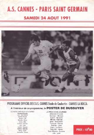 1991-08-24  Cannes-PSG (7ème D1, Officiel)