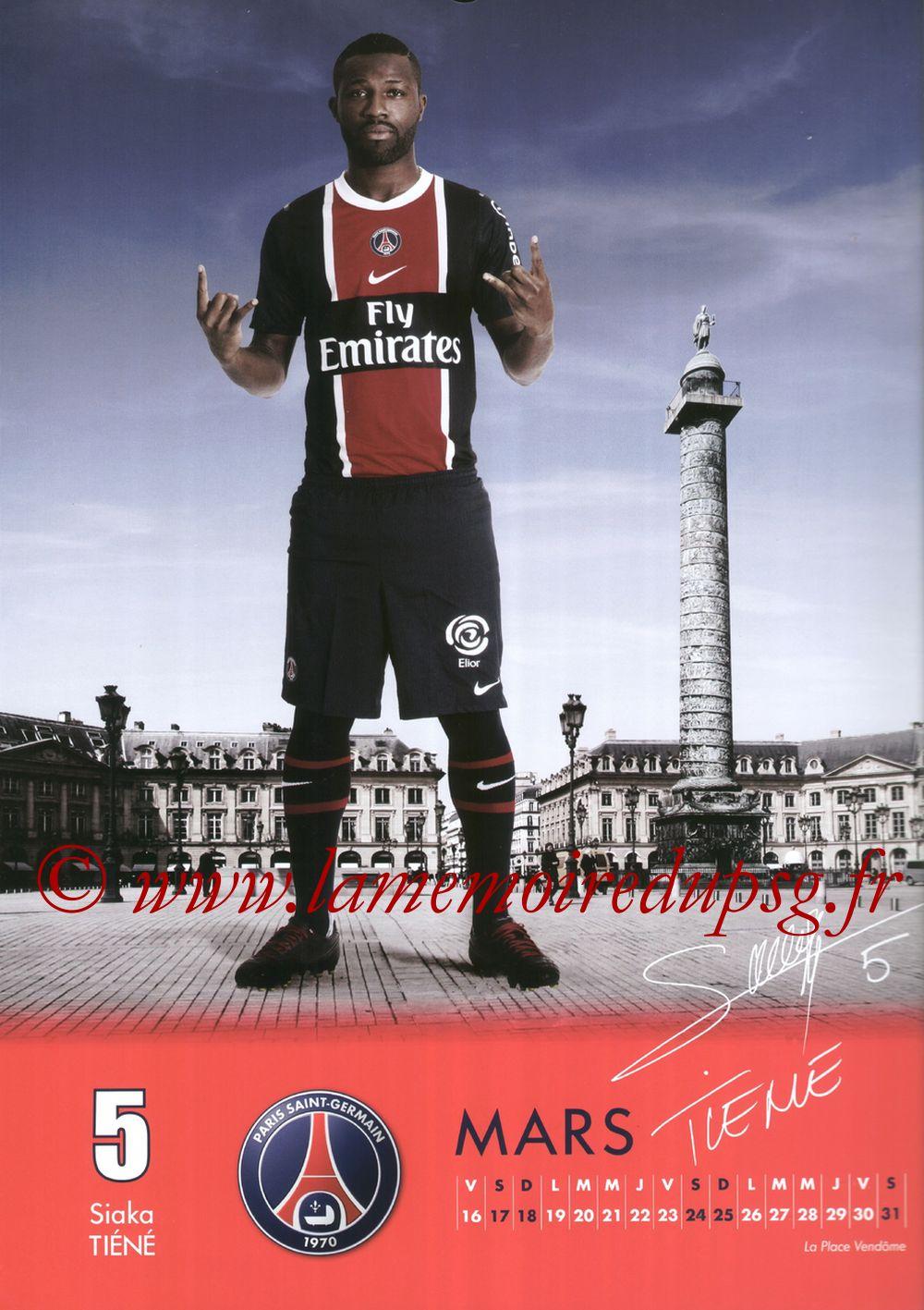 Calendrier PSG 2012 - Page 06 - Siaka TIENE