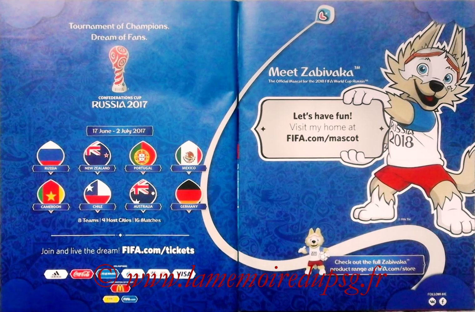 2017 - Panini Confederations Cup Russia Stickers - Pages 46 et 47