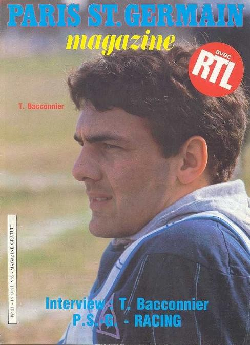 1985-04-19  PSG-Racing Paris (33ème D1, Paris SG Magazine N°21)