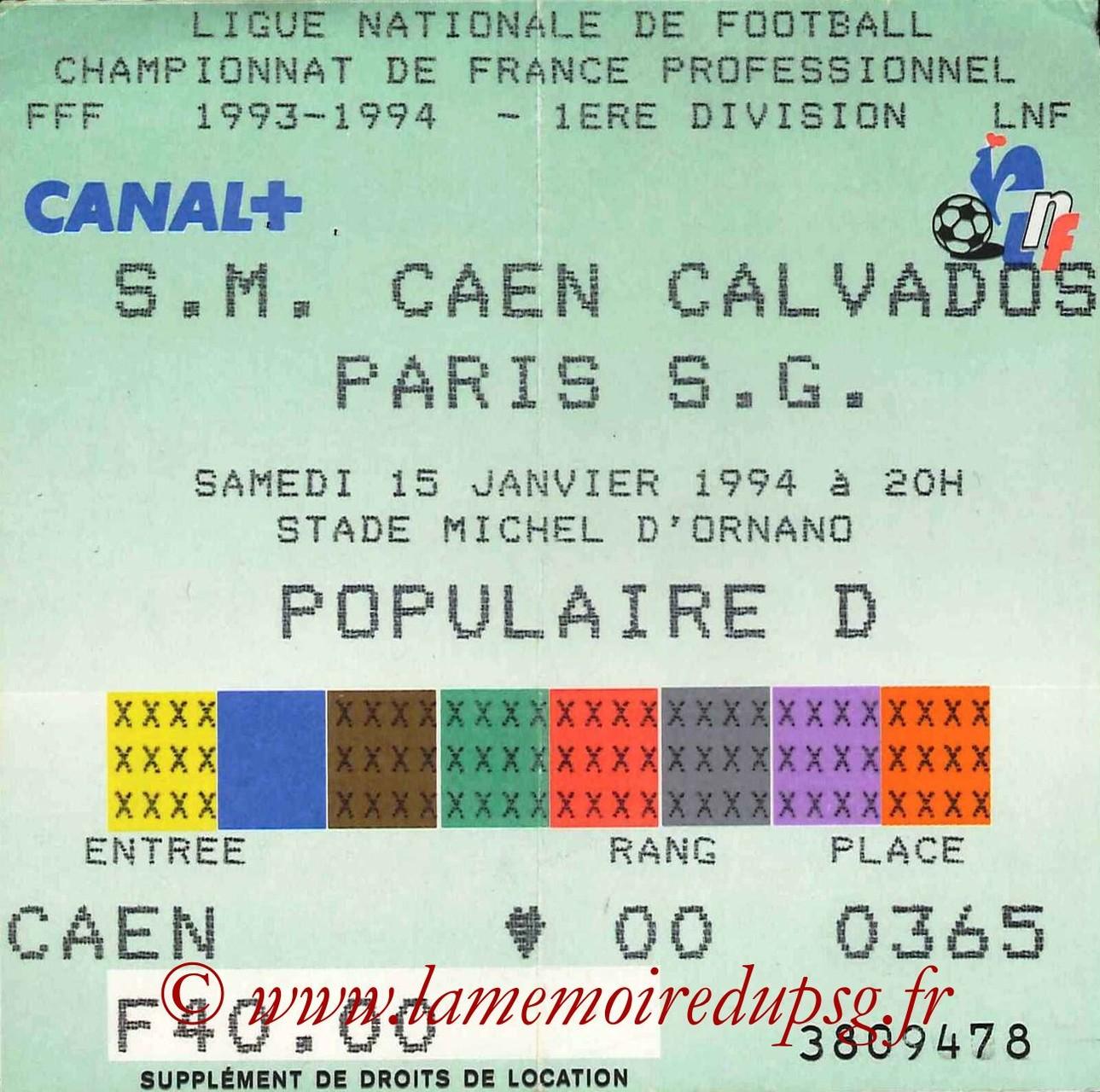 1994-01-22  Cote Chaude-PSG (32ème Finale CF à Saint-Etienne)
