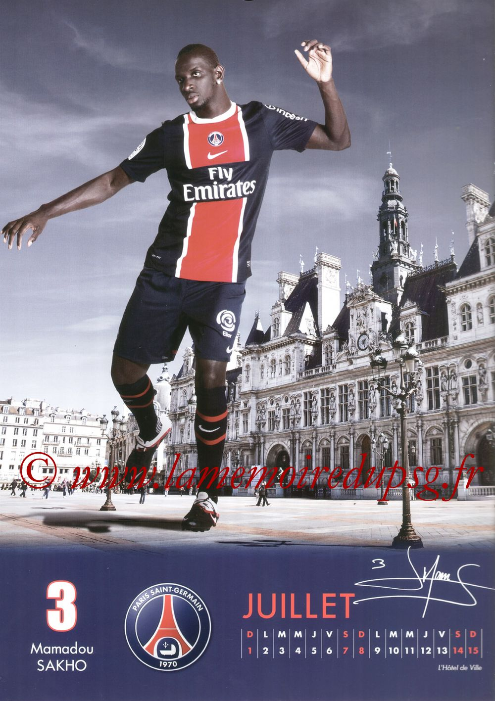 Calendrier PSG 2012 - Page 13 - Mamadou SAKHO