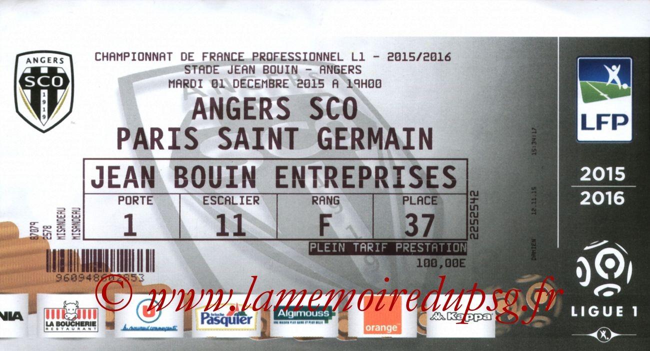 2015-12-01  Angers-PSG (16ème L1)
