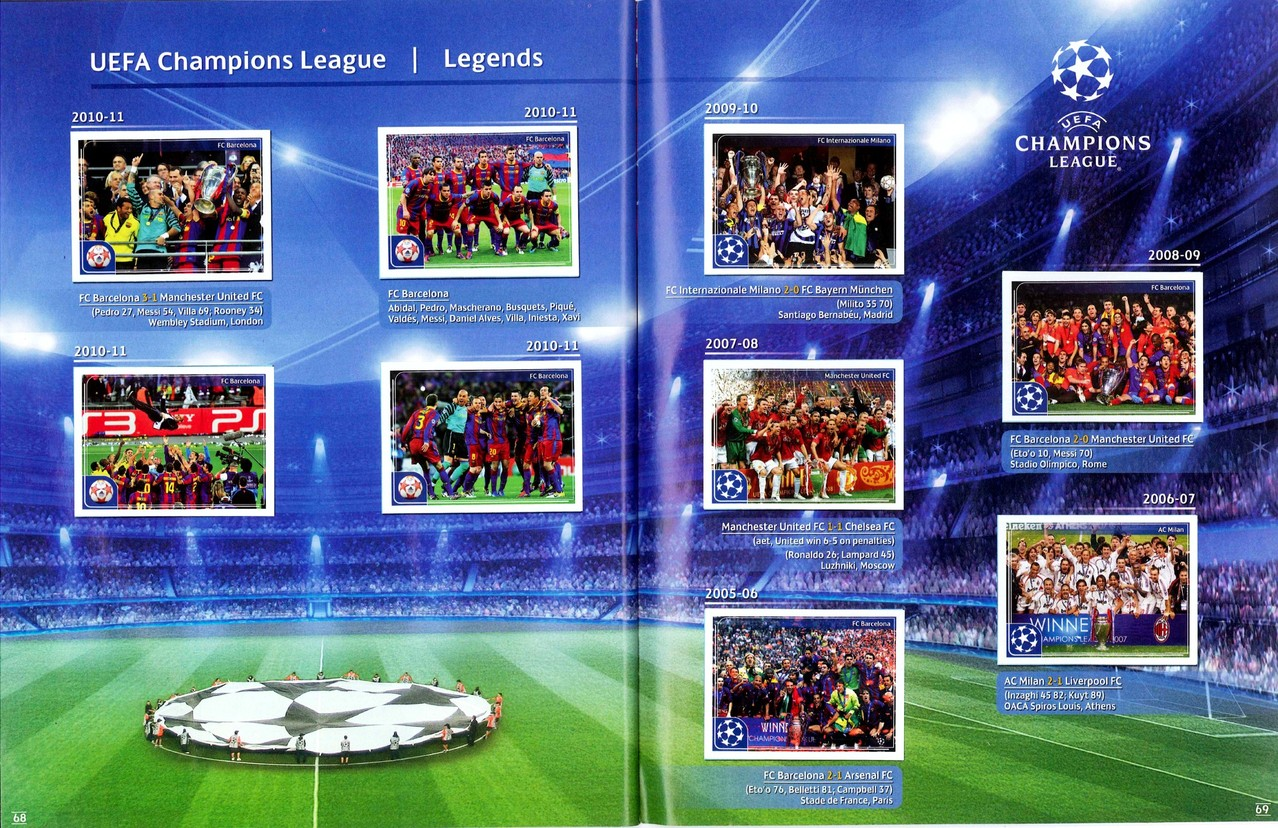 2011-12 - Panini Champions League - Pages 68 et 69 - Legends