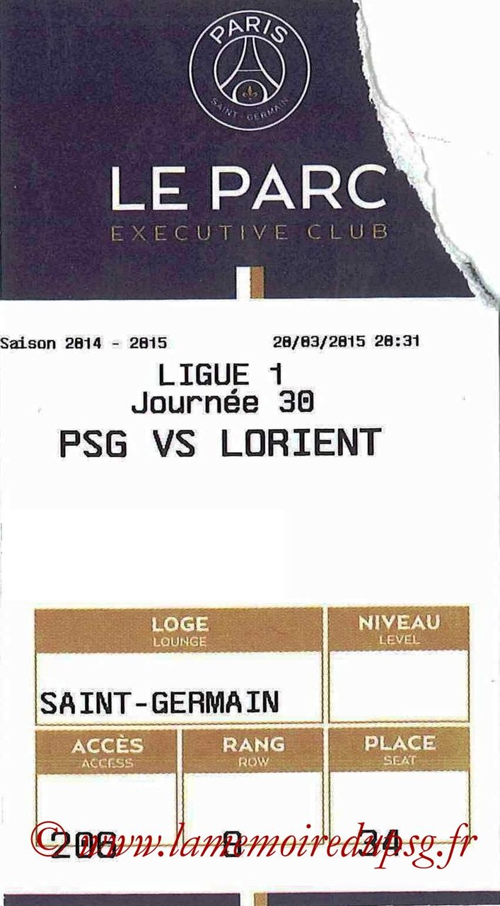 2015-03-20  PSG-Lorient (30ème L1, E-ticket Executive club)