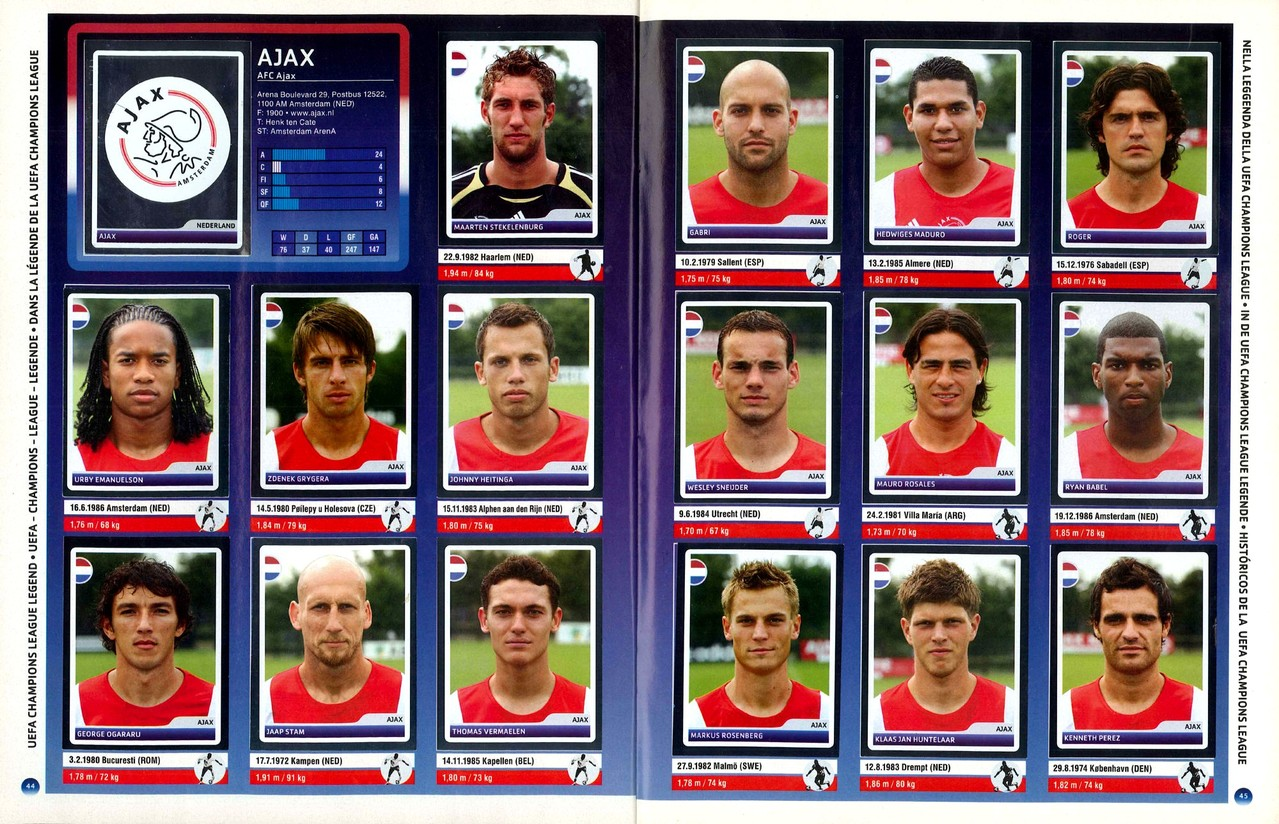 2006-07 - Panini Champions League - Pages 44 et 45 - AFC Ajax