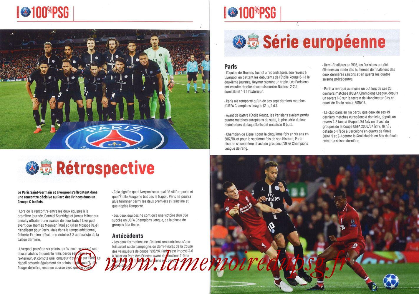 2018-11-28  PSG-Liverpool (5ème Poule C1, 100% PSG N° 172) - Pages 02 et 03