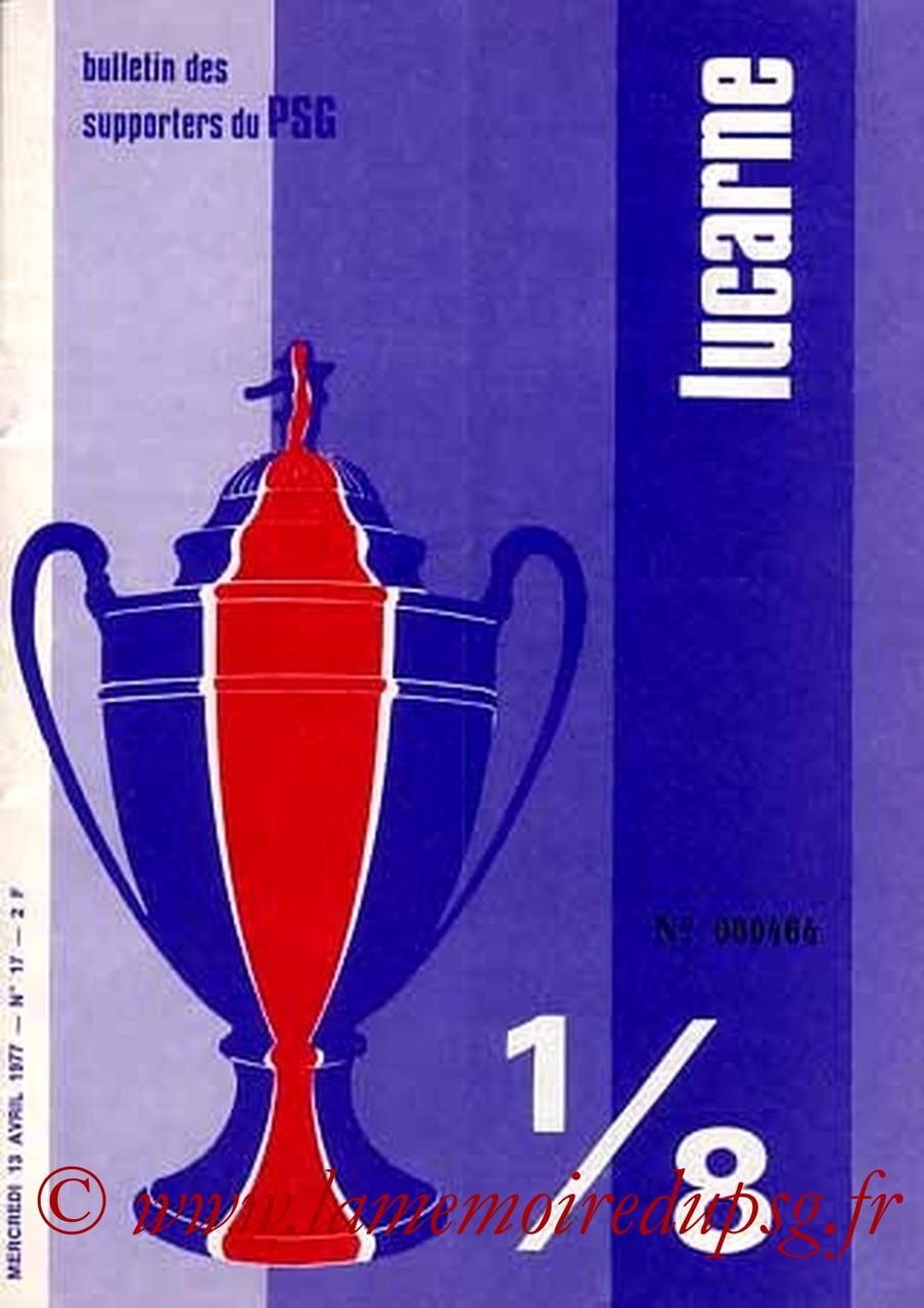 1977-04-13  PSG-Sochaux (8ème Finale Retour CF, Lucarne N°17)