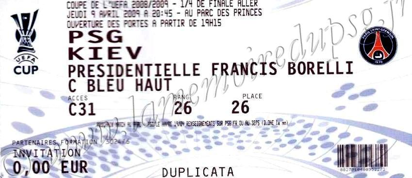 2009-04-09  PSG-Dynamo Kiev (Quart Finale Aller)