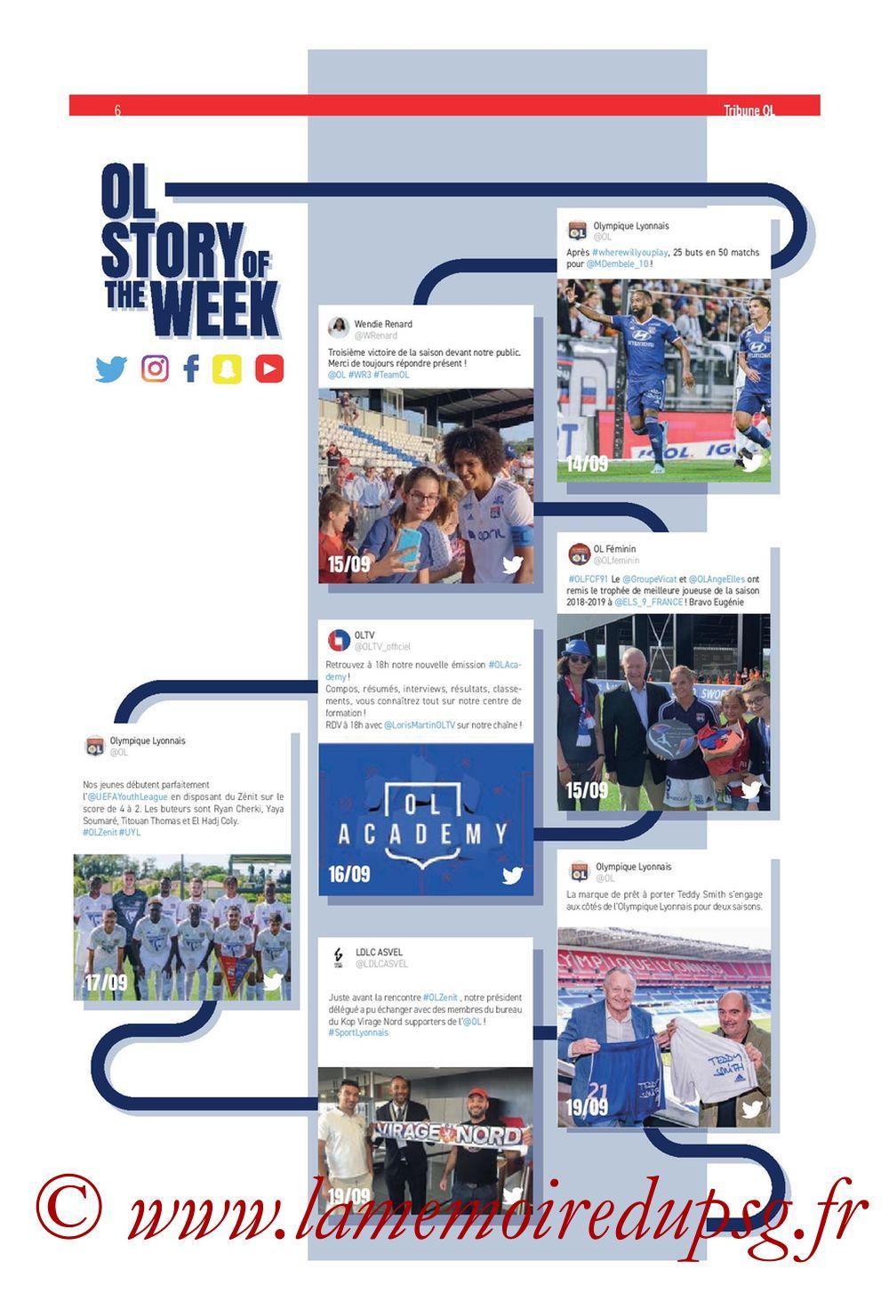 2019-09-22  Lyon-PSG (6ème L1, Tribune OL N°284) - Page 06