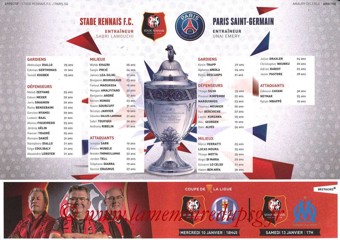 2018-01-07  Rennes-PSG (32ème CF, Programme Officiel) - Pages 02 et 03