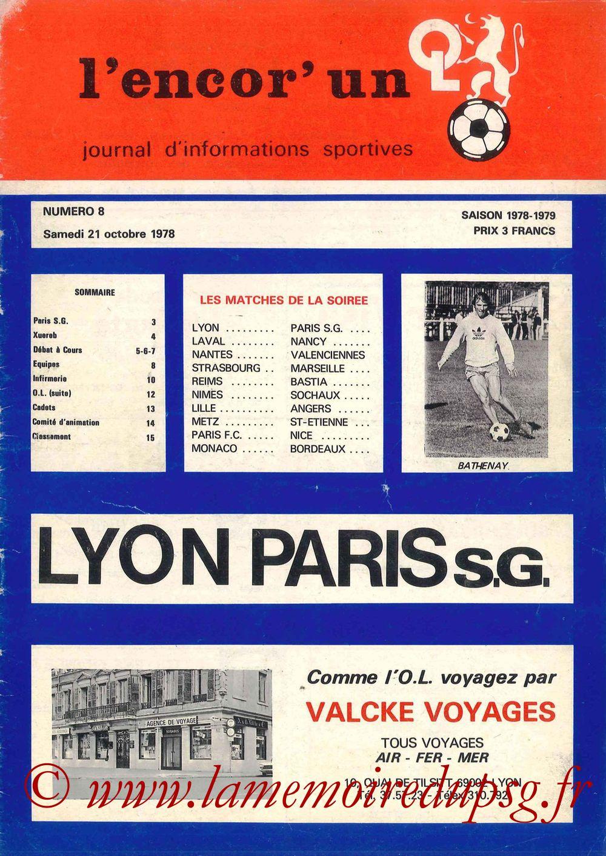 1978-10-21  Lyon-PSG (16ème D1, L'encor'un N°8)