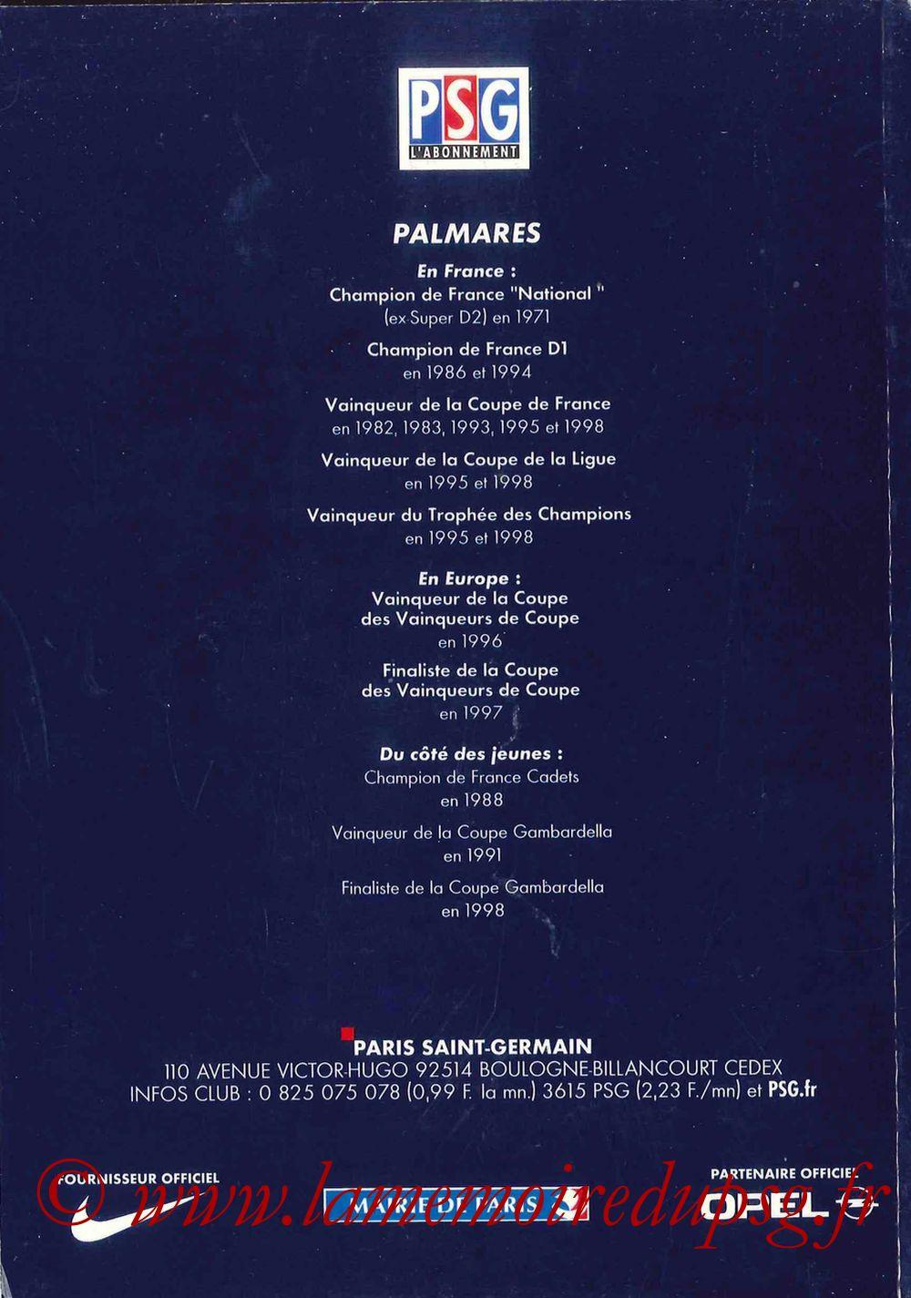 2000-01 - Guide de la Saison PSG - Pages 68