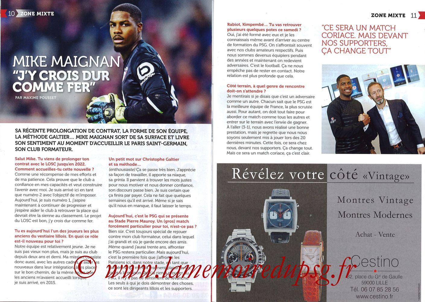 2018-02-03  Lille-PSG (24ème L1, Réservoir Dogues N°82) - Pages 10 et 11