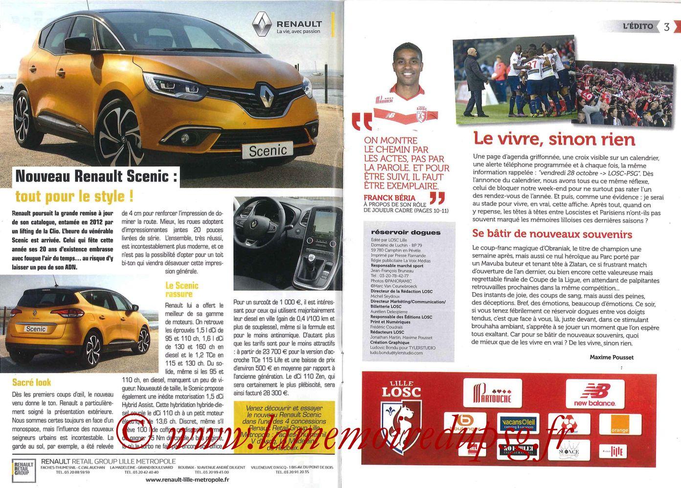 2016-10-28  Lille-PSG (11ème L1, Réservoir Dogues N°57) - Pages 02 et 03