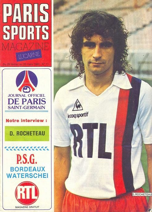 1983-03-02  PSG-Waterschei (Quart Finale Aller C2, Paris Sports Magazine N°11)