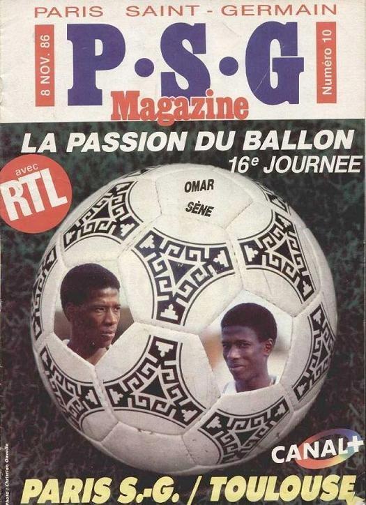 1986-11-08  PSG-Toulouse (16ème D1, PSG Magazine N°10)