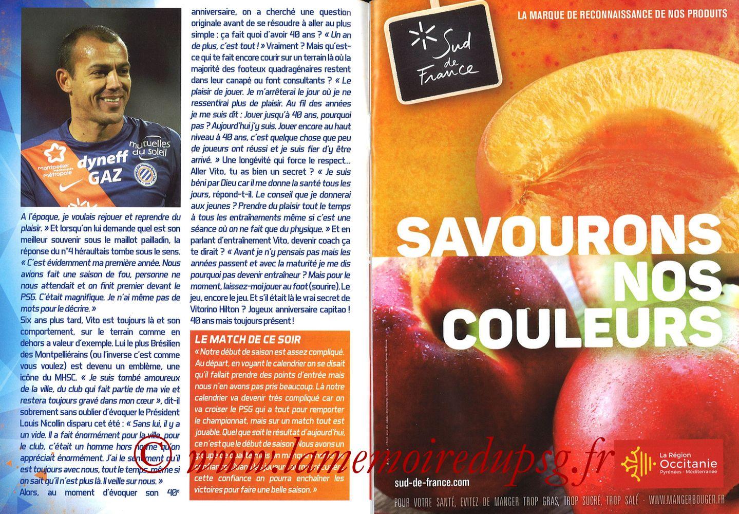 2017-09-23  Montpellier-PSG (7ème L1, L'Echo de la Mosson N°4) - Pages 06 et 07